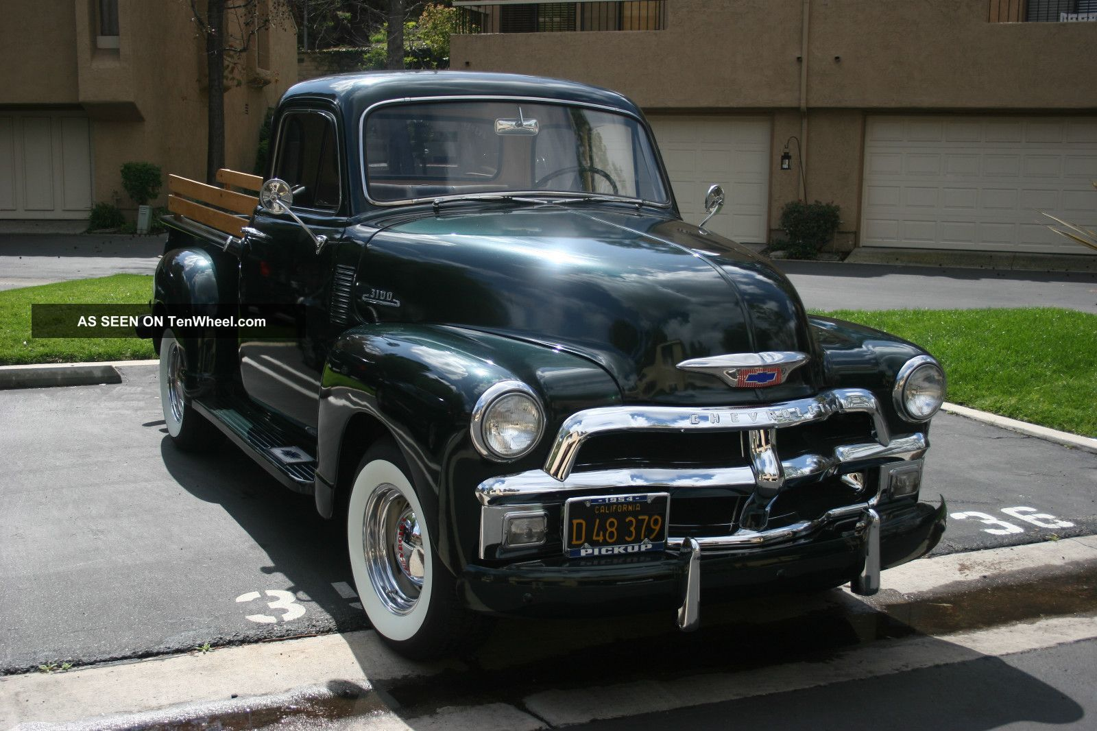All Chevy 1954 chevy : 1954 Chevy 3100 Pickup with hood up | Classic Cars 1950s ...