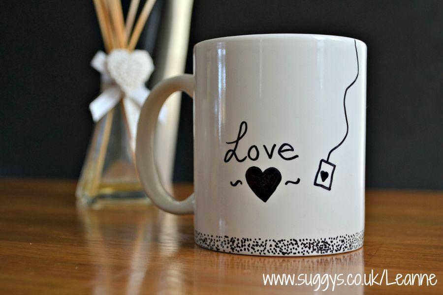 sharpie marker pen diy mug design - Coffee Mug Design Ideas