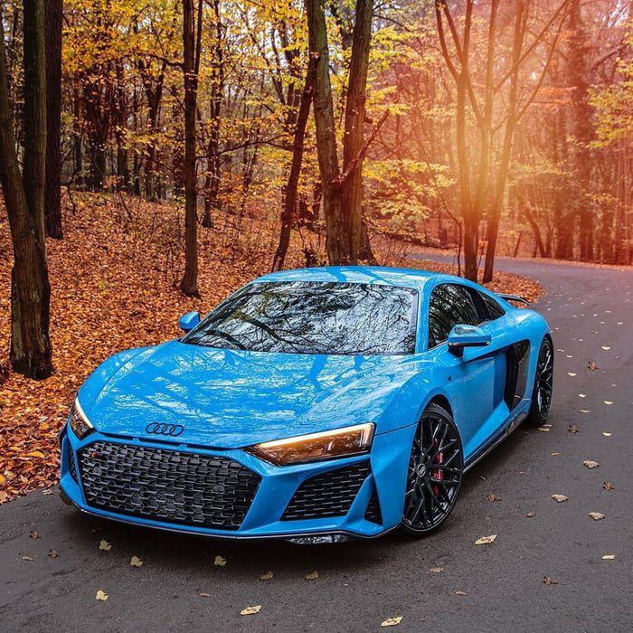 Blue Audi R8 #audi #audir8 #r8 #sportscar #audisport #audir8