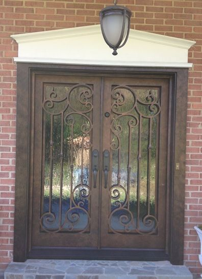 Iron Double Door Clark Hall Doors Charlotte Nc