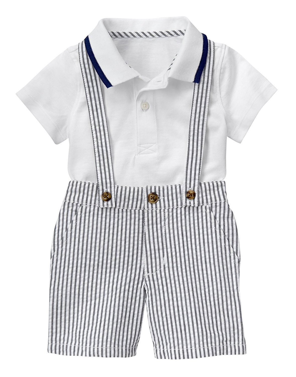 50c57d8a620 Amazon.com  Gymboree Baby Toddler Boys  Seersucker Suspender Set ...
