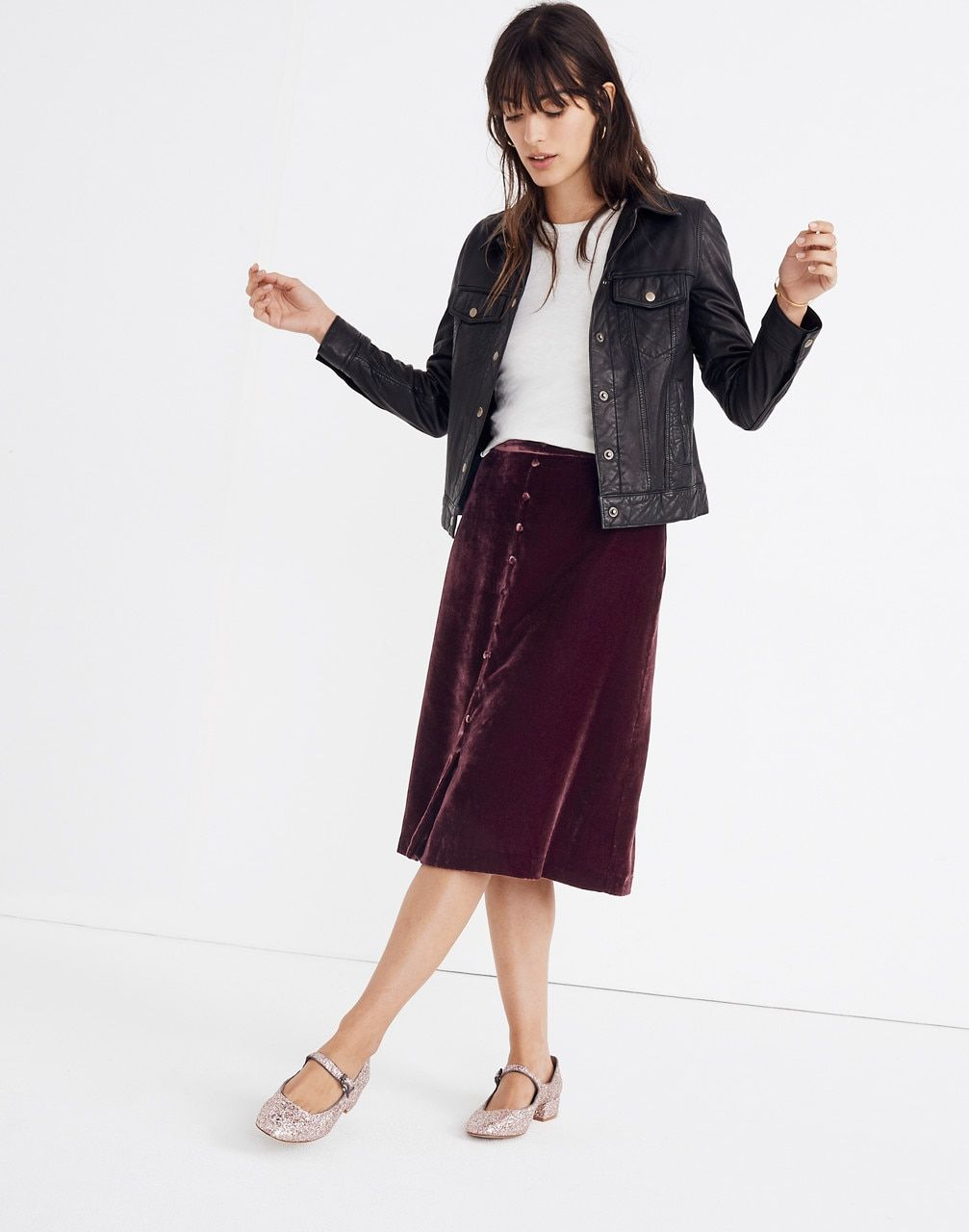 Clothing, Shoes & Accessories Sporting Madewell Daisy Midi Skirt 00
