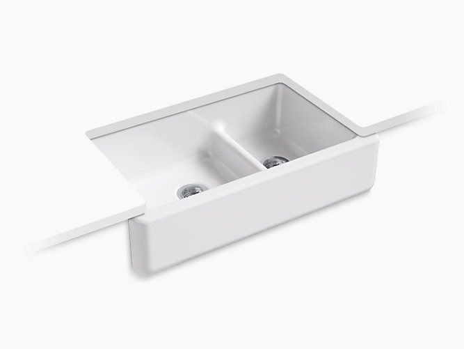 The Primary Kitchen Sink Features The Kohler 33 Inch Smart Divide Sink That Gives The Benefit Of A Single Bowl Sink With The Lo Double Bowl Kitchen Sink Apron Front Kitchen