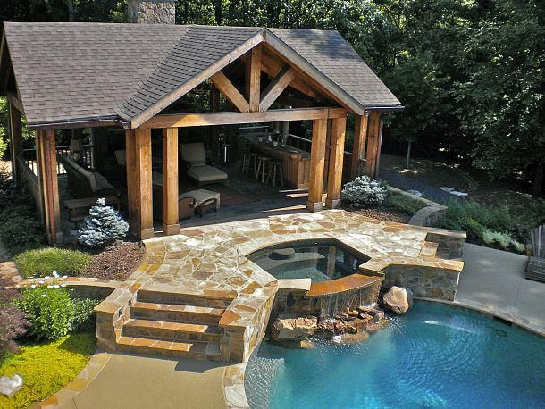 This outdoor living space provides the perfect spot for relaxing as ...