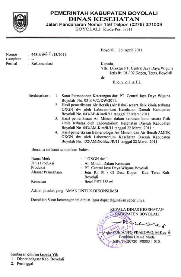 Contoh Surat Pengantar Dokumen Resmi