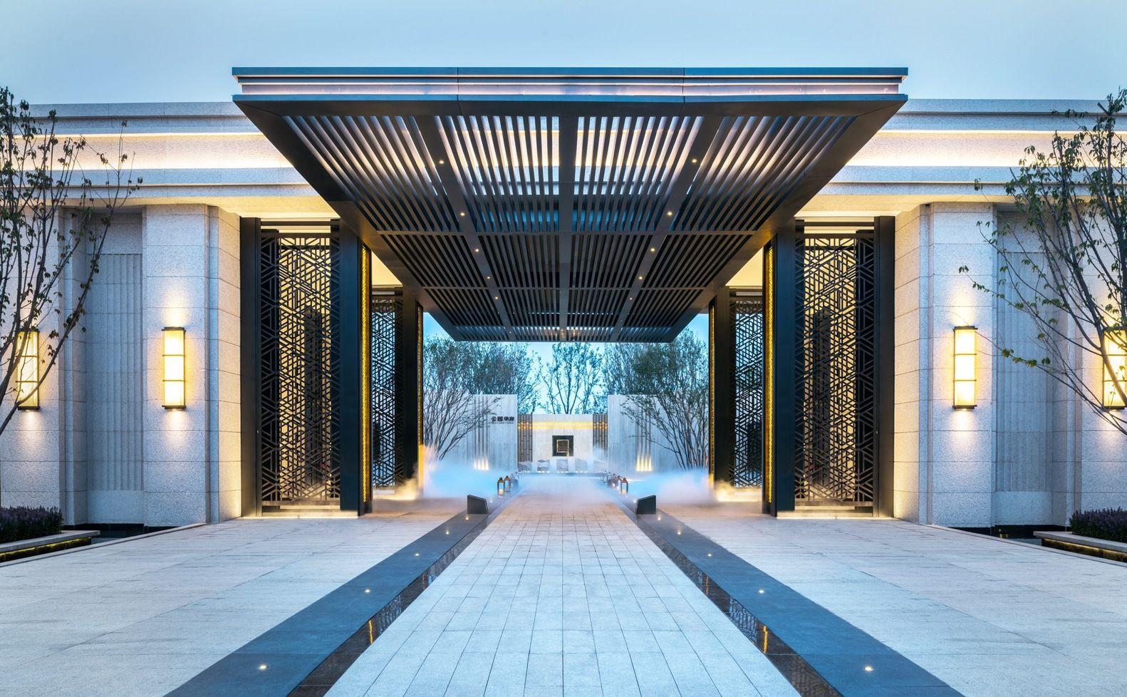 Vanke Park Mansion True Love Courtesy Of Floscape Landscape Design Company Modern Landscape Design Landscape Design Entrance Design
