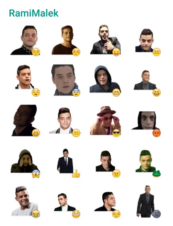 Rami Malek Sticker Pack #Telegram #Stickers | Awesome people