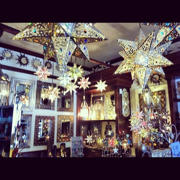 Home Decor Stores San Diego: Mexican Tin Star Lights. This Was Taken At A Shop In Old