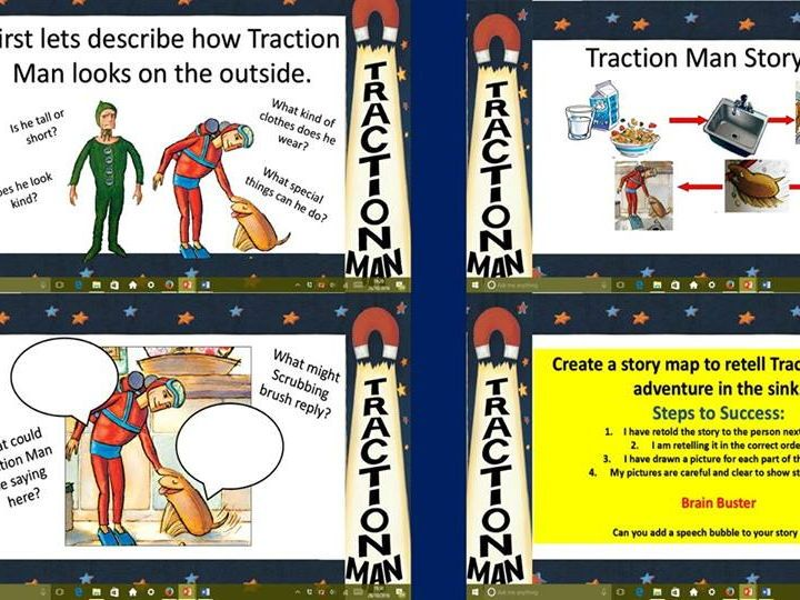 traction man comic strip template  Traction Man Literacy planning for KS6 | Traction man ...