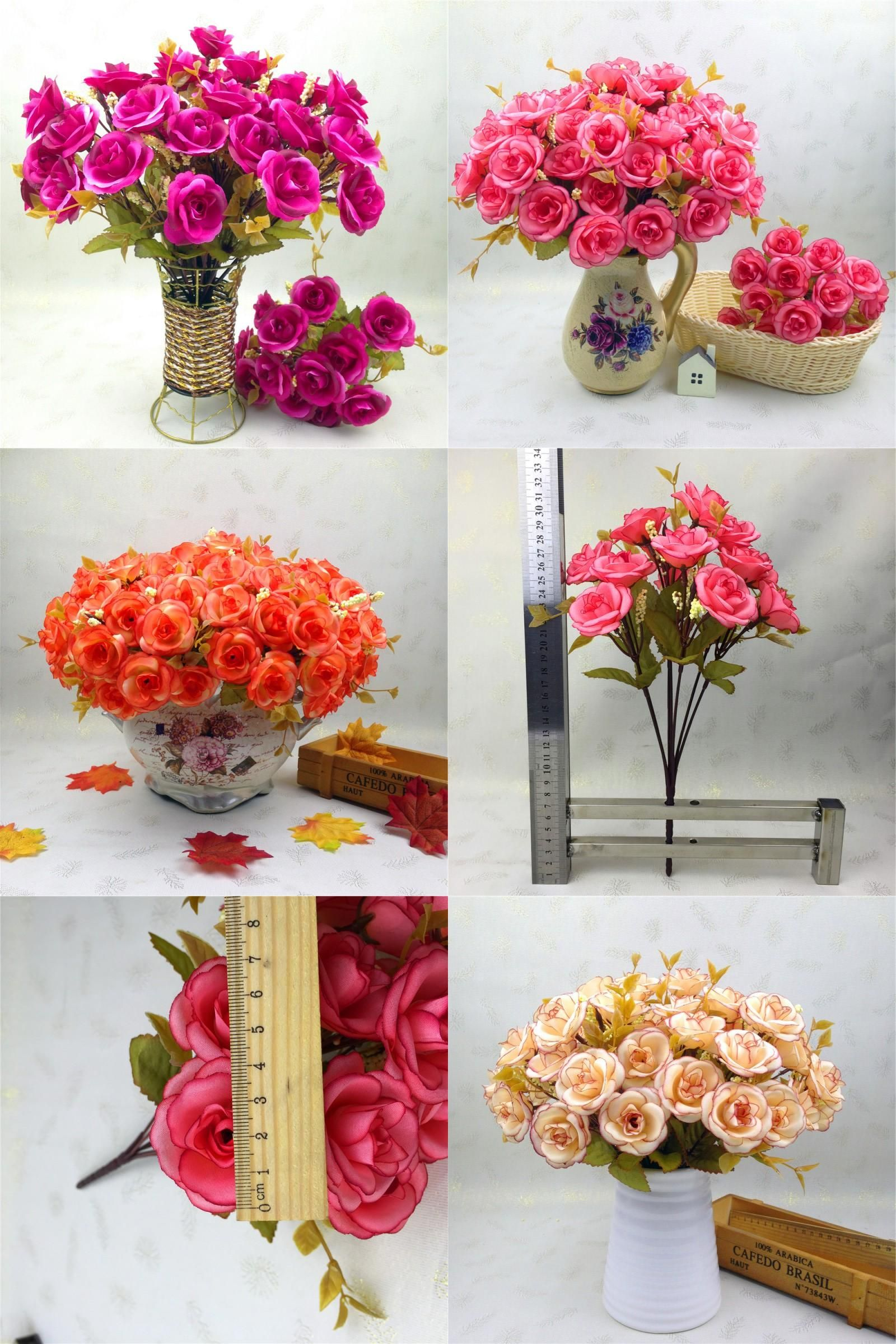 Visit To Buy New 14 Heads Artificialrose Flowers Silk Flower