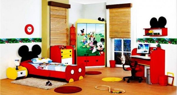 Mickey Mouse Kids Bedroom Design with Furniture Set - Mickey Mouse Kids Bedroom Designs
