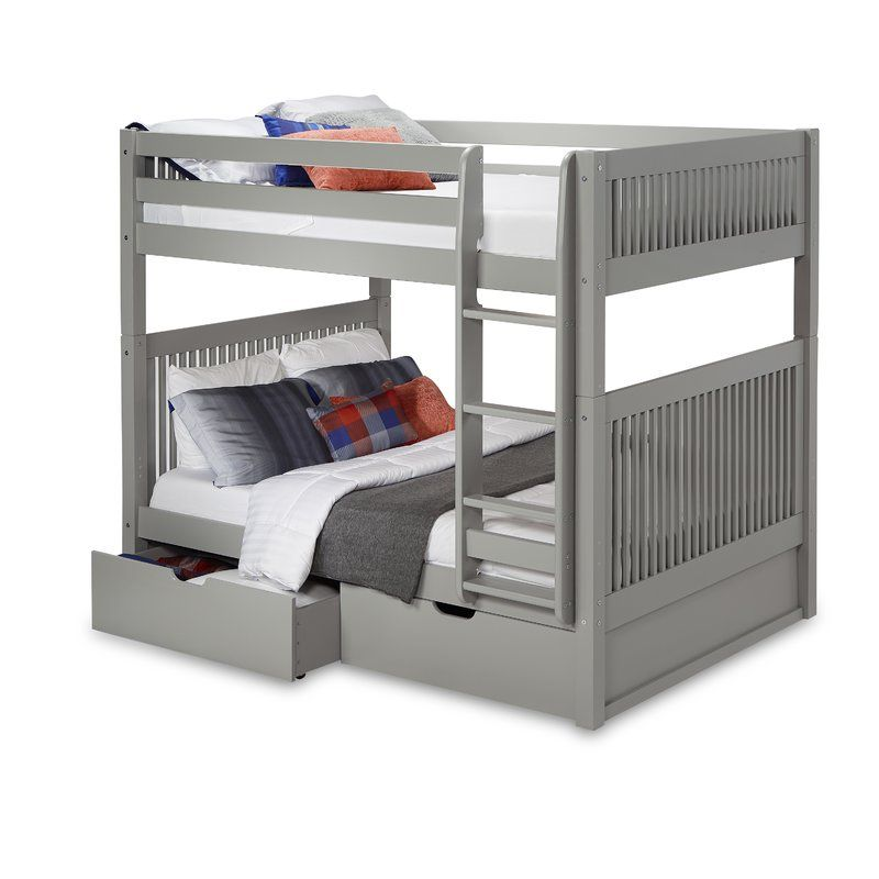 Rabon Full Over Full Bunk Bed With Drawers In 2020 Bunk Bed With