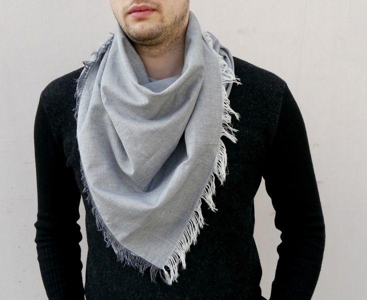 Tücher & Schals - Männer Schal / Baumwoll schal / Halstuch / - ein…   Schals und tücher, Schals