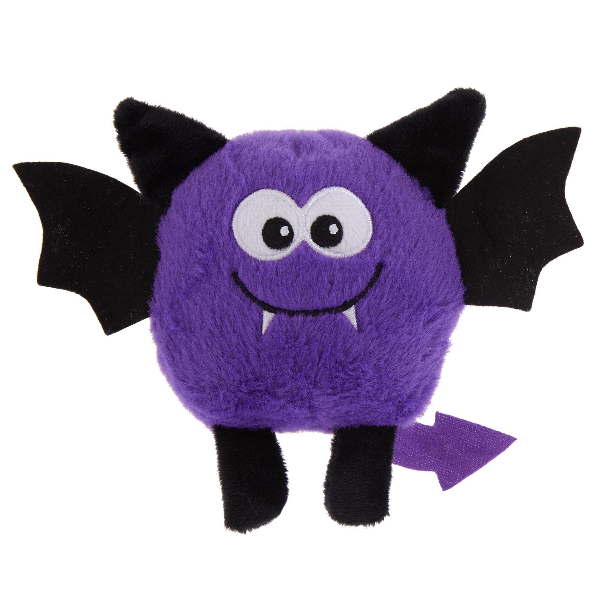 Thrills And Chills Halloween Bat Dog Toy Plush Squeaker