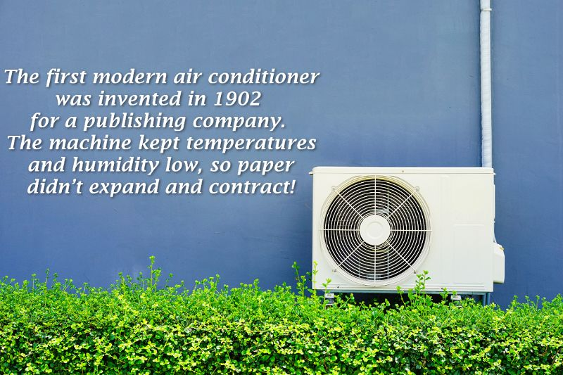 Now used for comfort air conditioners were not invented