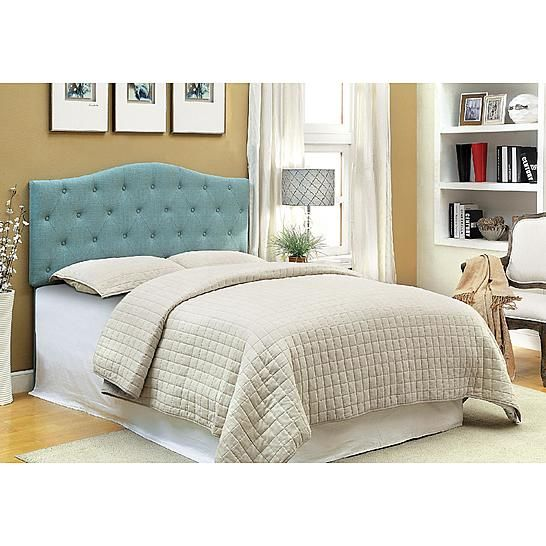 Furniture of America Camel Back Arnia Button Tufted Full/Queen ...