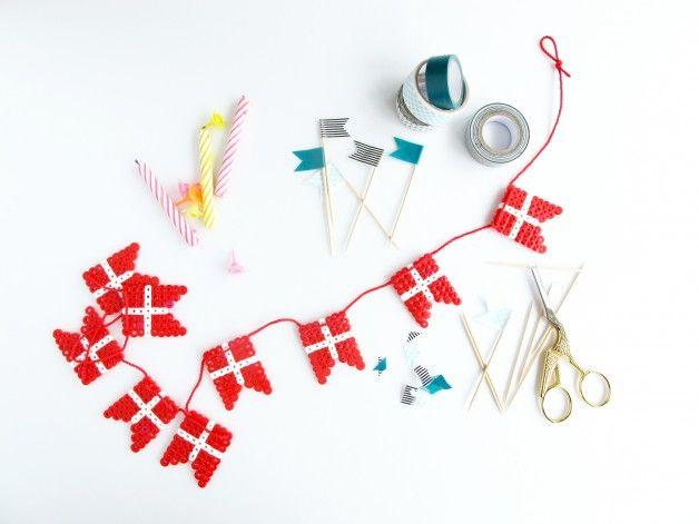 www.frkhansen.dk DIY flagranke af Hama perler