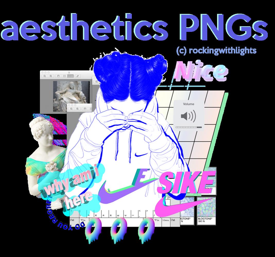 21 Free Aesthetic Png Packs Aesthetic Anime Design Freebies Vector Neon Aesthetic