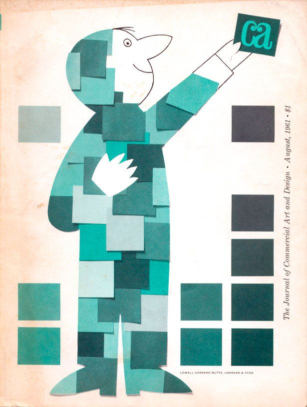 """""""journal of commercial art"""" magazine 1961"""