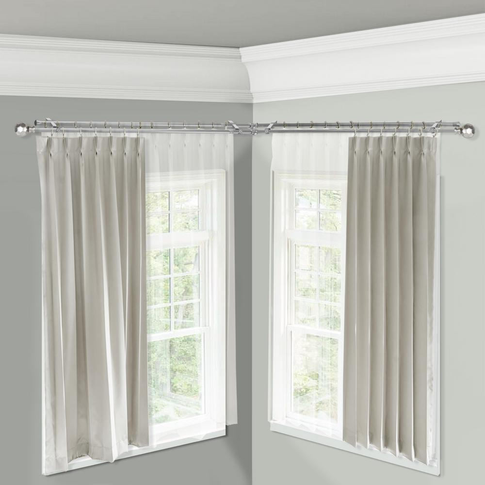 Allzone Room Divider Tension Curtain Rod 83 120 Inch No Drilling