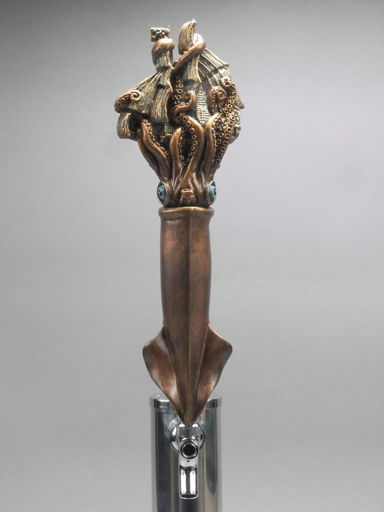 """OCTOPUS-PIRATE/_ BAR BEER TAP HANDLE DIRECT FROM RON LEE /""""OCTO-PIRATE"""