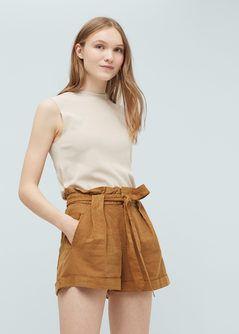 9a0c15f9bfe4 Short lino algodón - Mujer en 2019   Neutral (More)   Pantalon lino ...