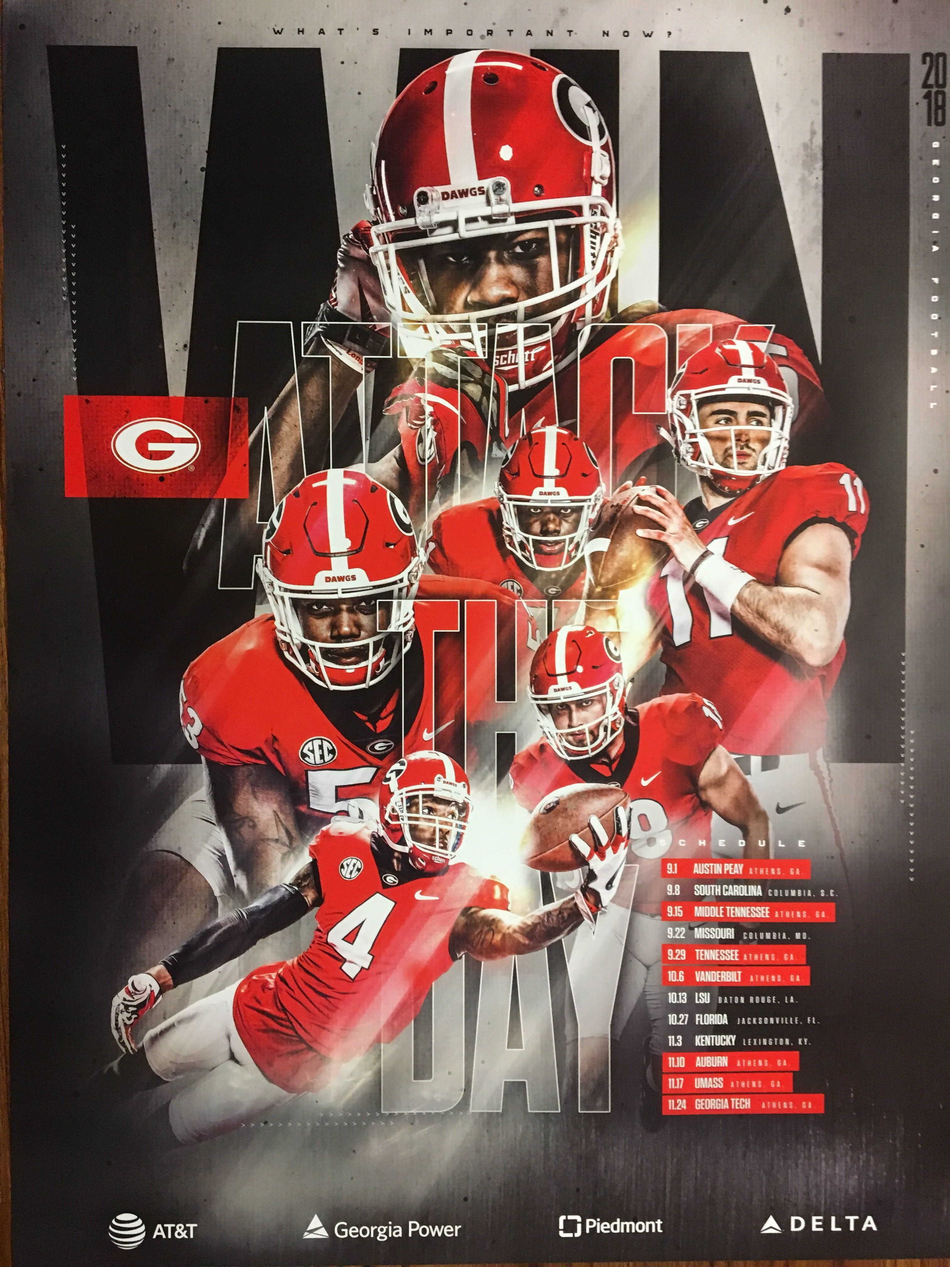 2018 Football Team Schedule Poster Futebol americano