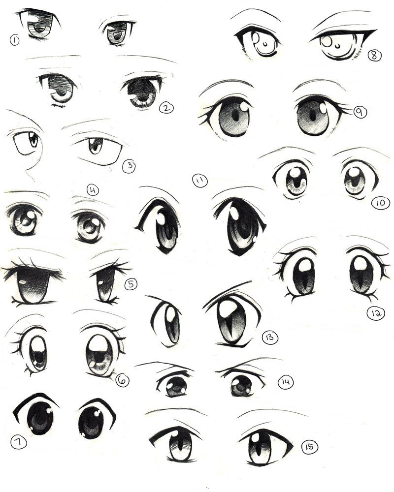 Anime eyes la intensidad de una mirada anime eyes for How to draw a girl looking down