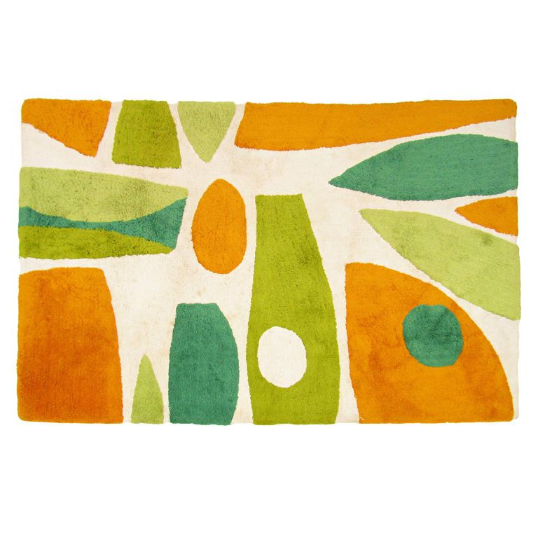 Mid Century Modern Abstract Area Rug Ca.1960s