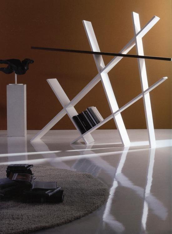 geometrische formen designer bücherregale als interieur akzente - bucherregal designs akzent interieur