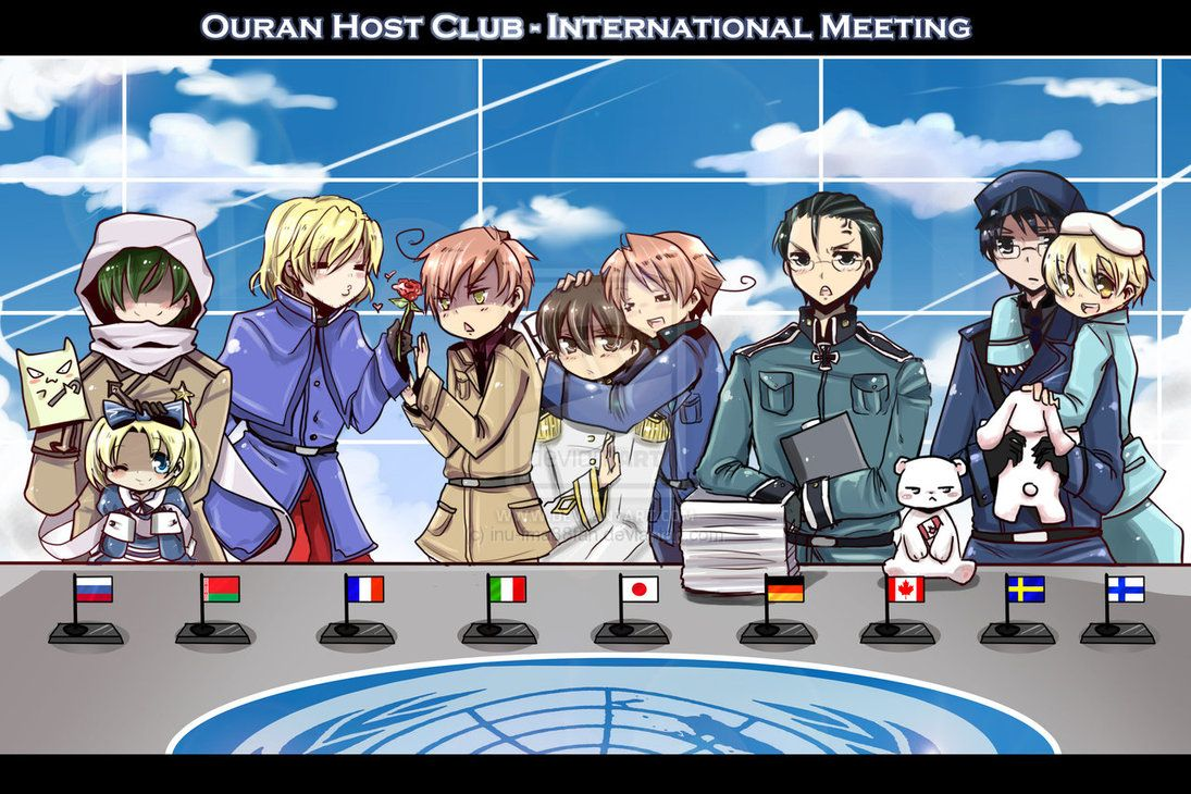 Ouran meets hetalia by jinyjin I saw this being sold at
