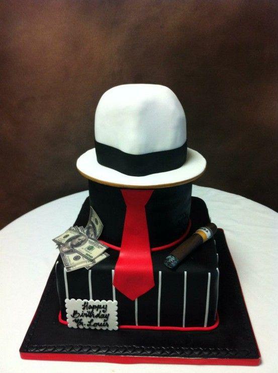 Gangster Birthday Cake Birthday Cakes Pinterest
