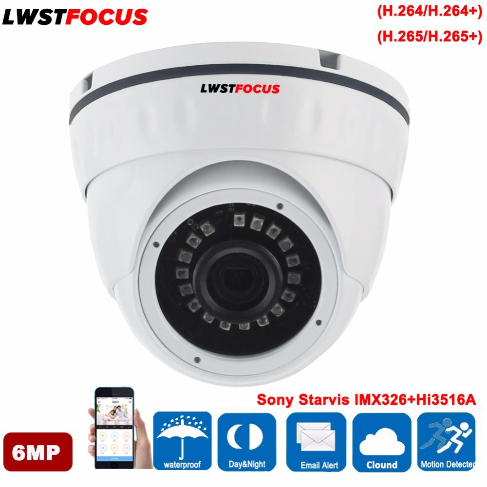 LWSTFOCUS 6MP IP Camera HD 4mm Board Lens Built IN POE SD Card Slot