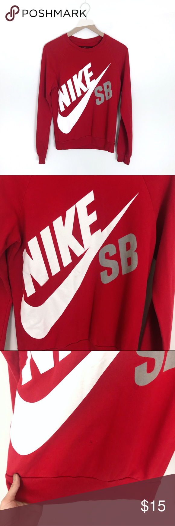 Predownload: Nike Sb Red Crewneck Logo Sweater Red Crewneck Sweaters Nike Sb Red [ 1740 x 580 Pixel ]