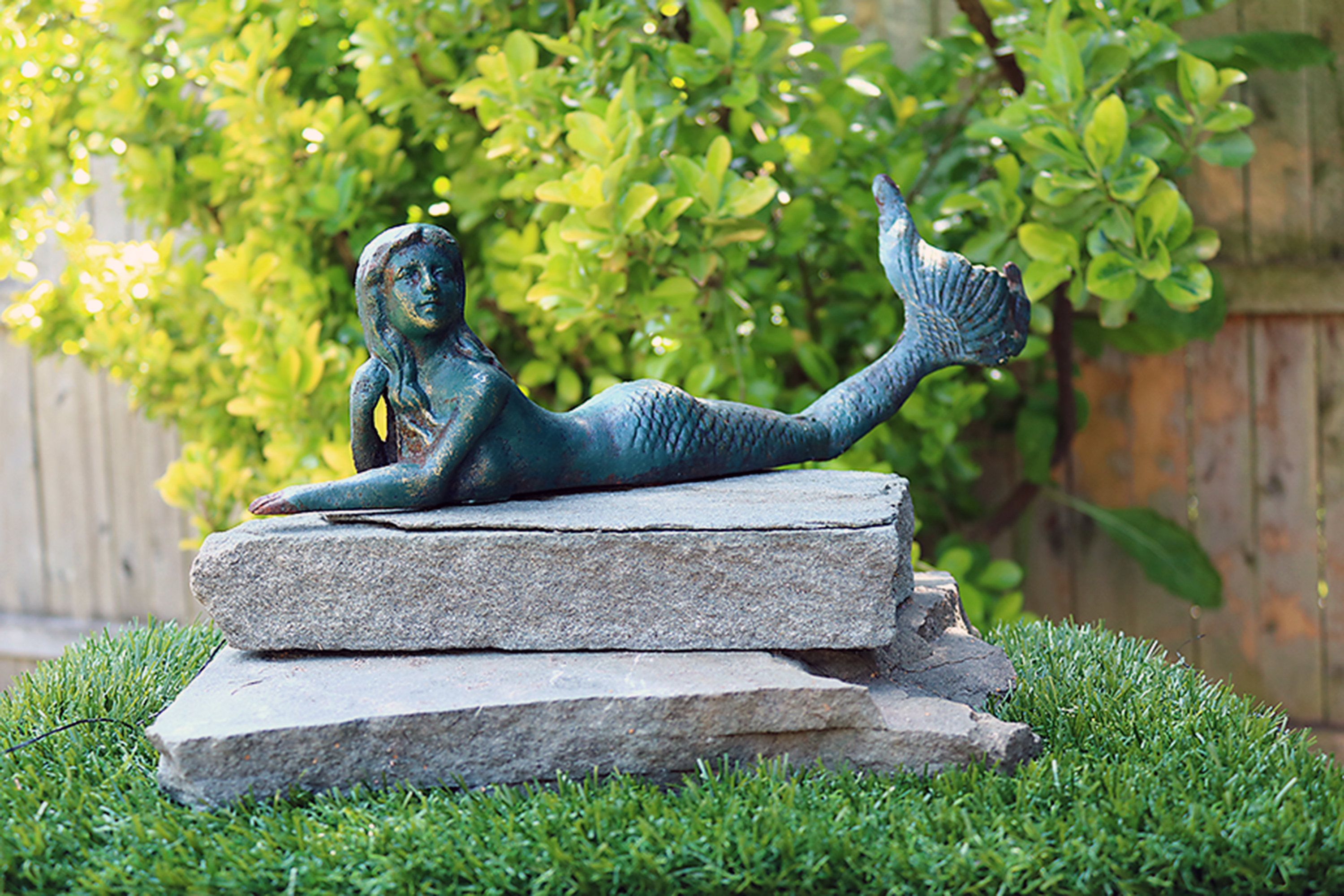 Mermaid lounging large Cast Iron nautical ocean mythical creatures ...