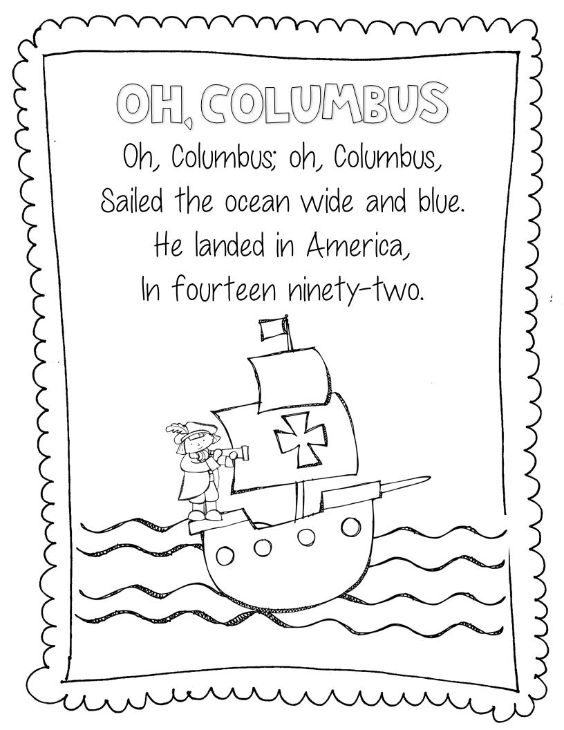Columbus Day Quotes   Christopher columbus kindergarten [ 1056 x 816 Pixel ]
