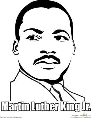 Martin Luther King Black History Month First Grade People Worksheets Jr Coloring