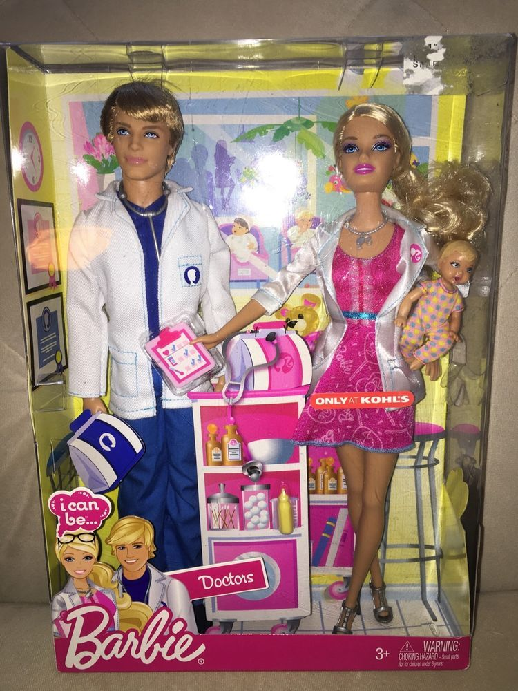 Barbie I Can Be Doctors Barbie And Ken And Baby Doll Exclusive