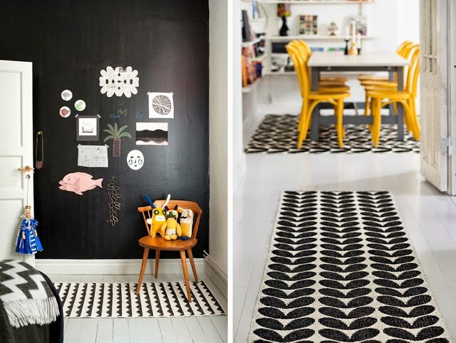 tapis plastique motif noir et blanc style scandinave triangle brita sweden d co blog tapis. Black Bedroom Furniture Sets. Home Design Ideas
