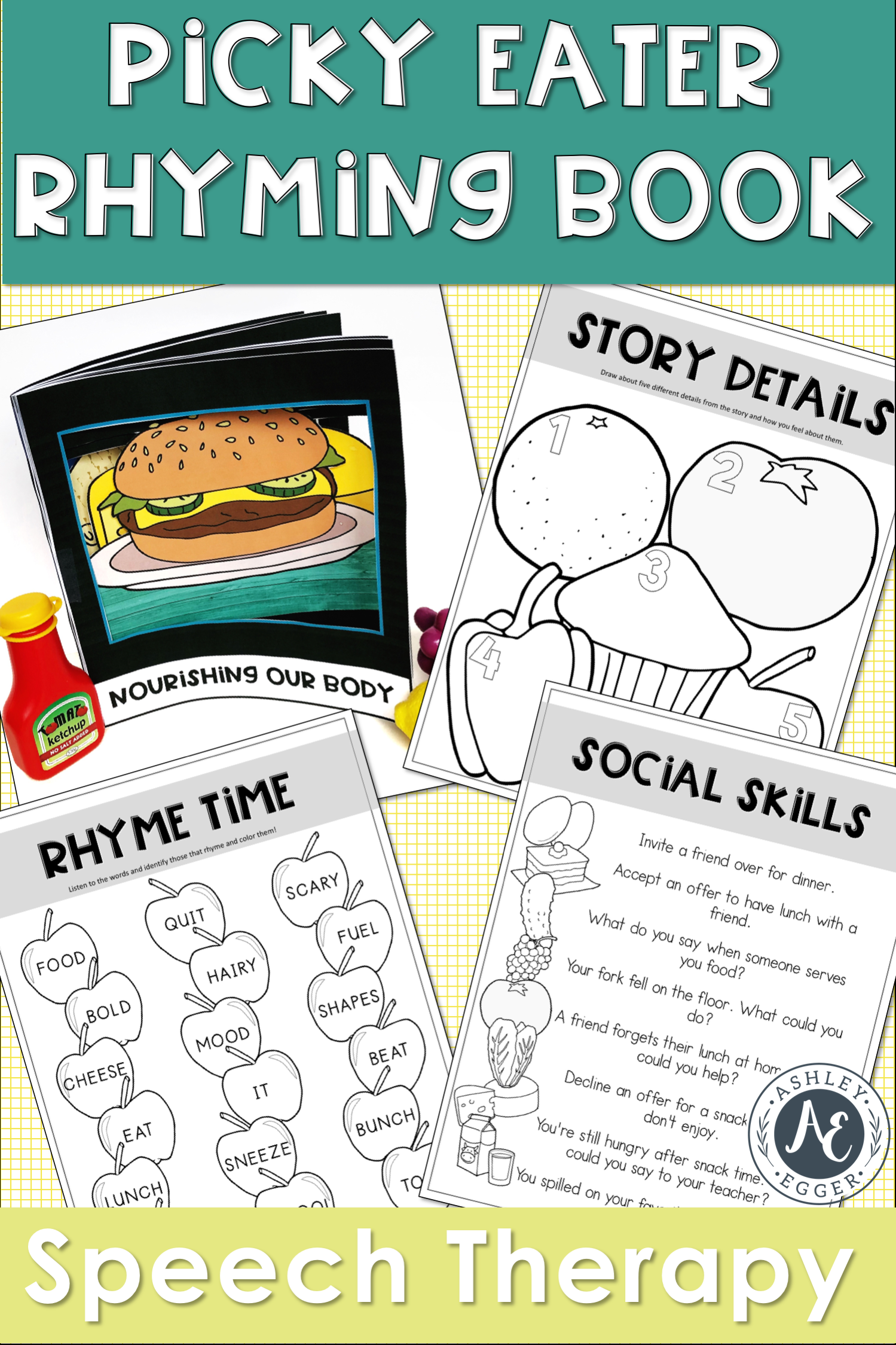 Picky Eater and Healthy Eating Rhyming Book Speech