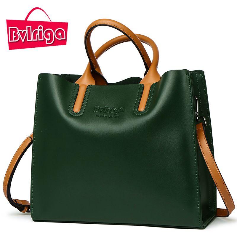 63.45 - Awesome BVLRIGA Genuine leather bag famous brands women messenger  bags women handbags designer high quality women bag shoulder bag tote - Buy  it ... f4f7cff9b0cd8