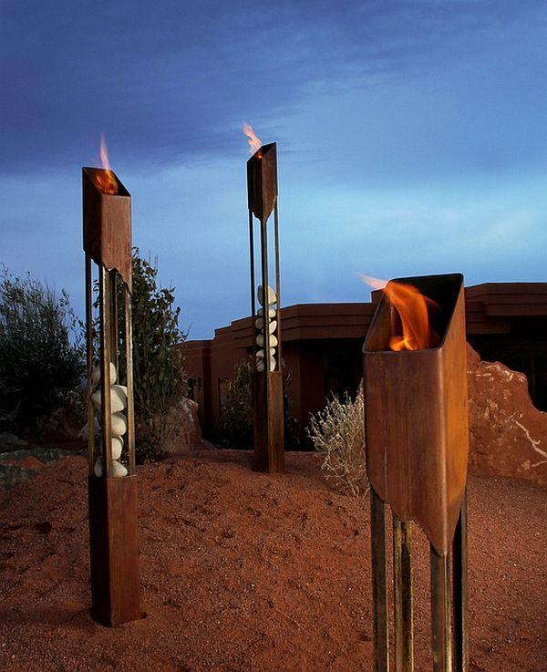inspiring outdoor designs with tiki torches modern reinterpretation rh pinterest com