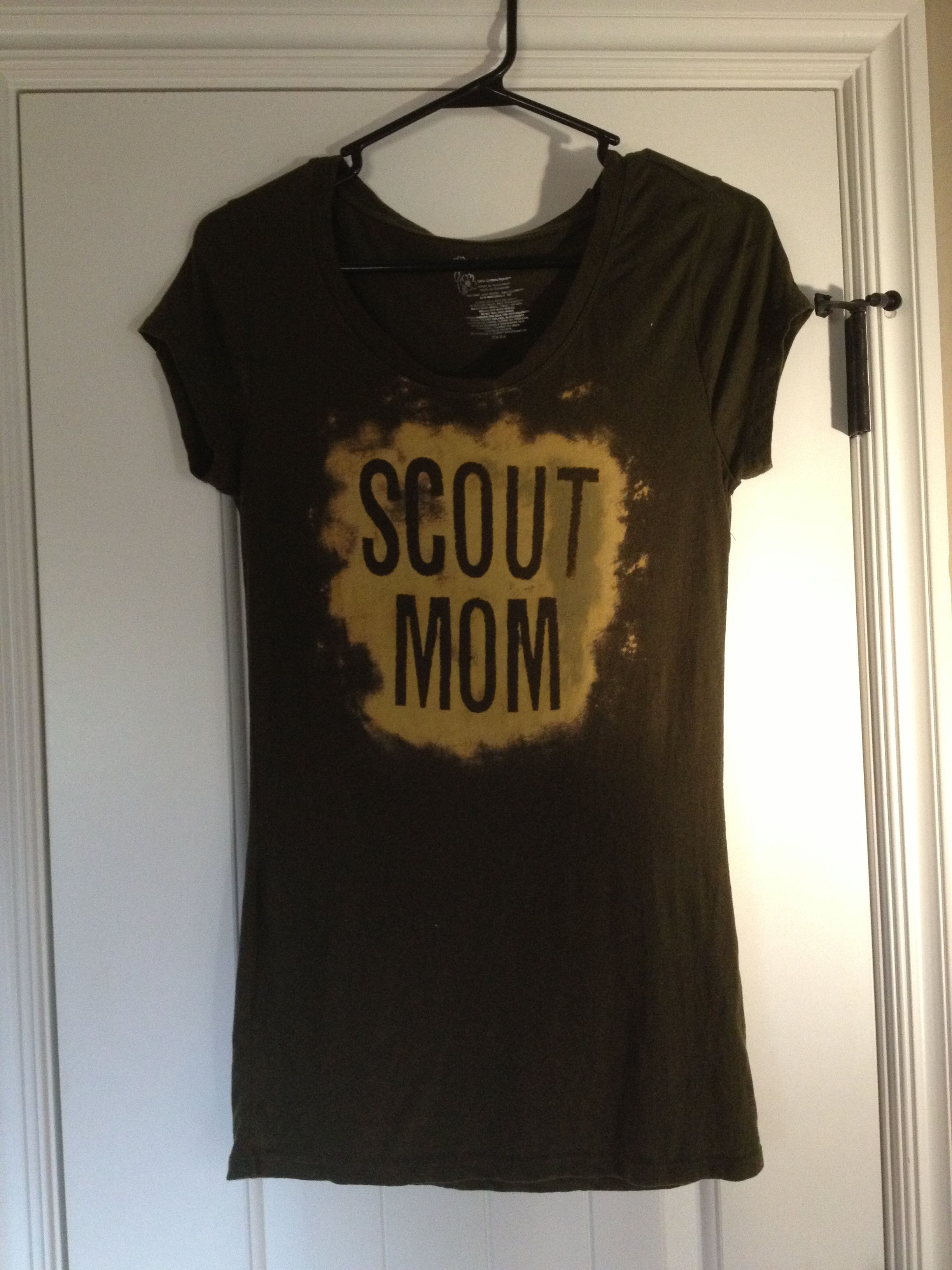 Scout Mom Tshirt 100 Cotton Shirt Stick On Vinyl