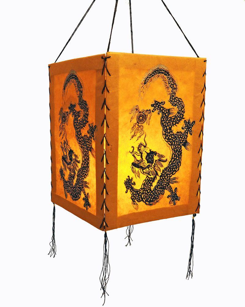 LOKTA Papier Papierleuchte Papierlampe Lampion Hängelampe Nepal Lampenschirm