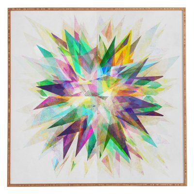 DENY Designs Mareike Boehmer Colorful 6 Y Framed Wall Art - 51009-FRWASM