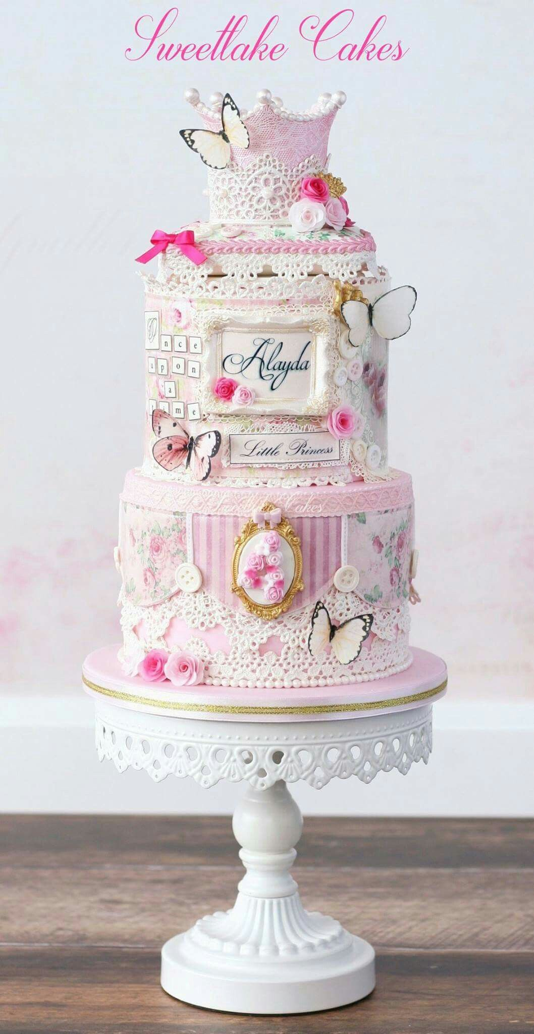 Pin by Ana Jiménez on Cakes | Pinterest | Cake, Shabby chic cakes ...
