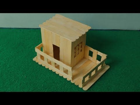 How to make ice cream stick mini house simple popsicle stick house how to make ice cream stick mini house simple popsicle stick house youtube ccuart Choice Image