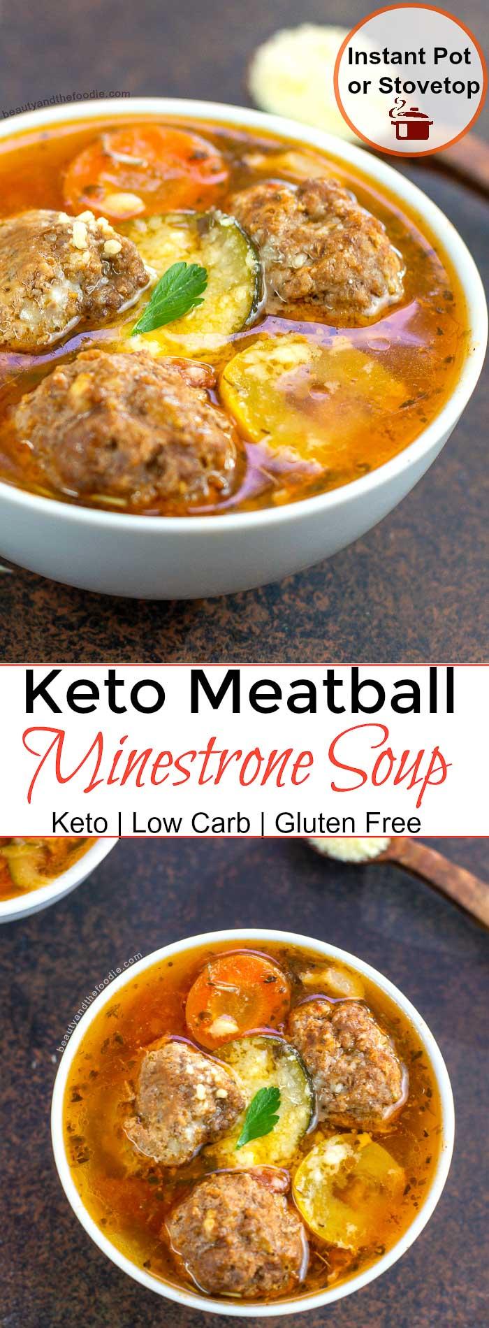 Keto Meatball Minestrone Beauty and the Foodie Keto