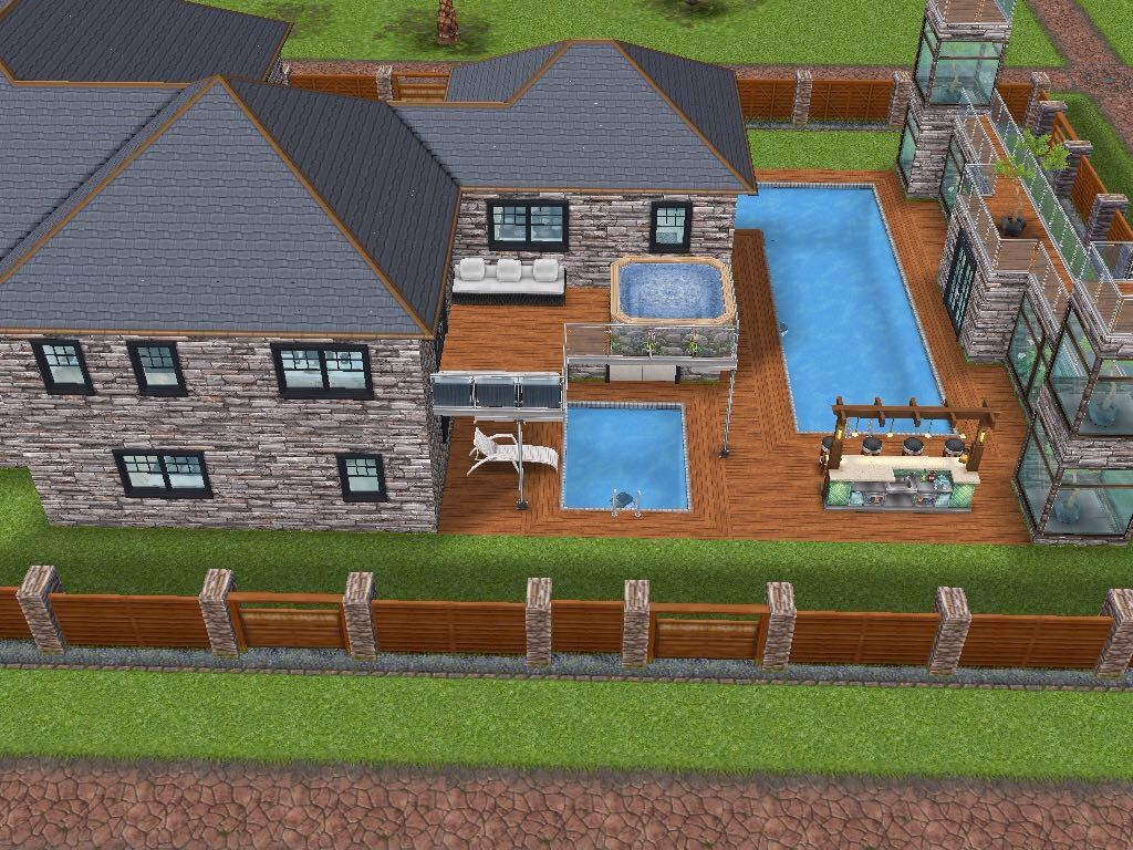 Remodeled Two Story Mansion. Sims Freeplay House Design