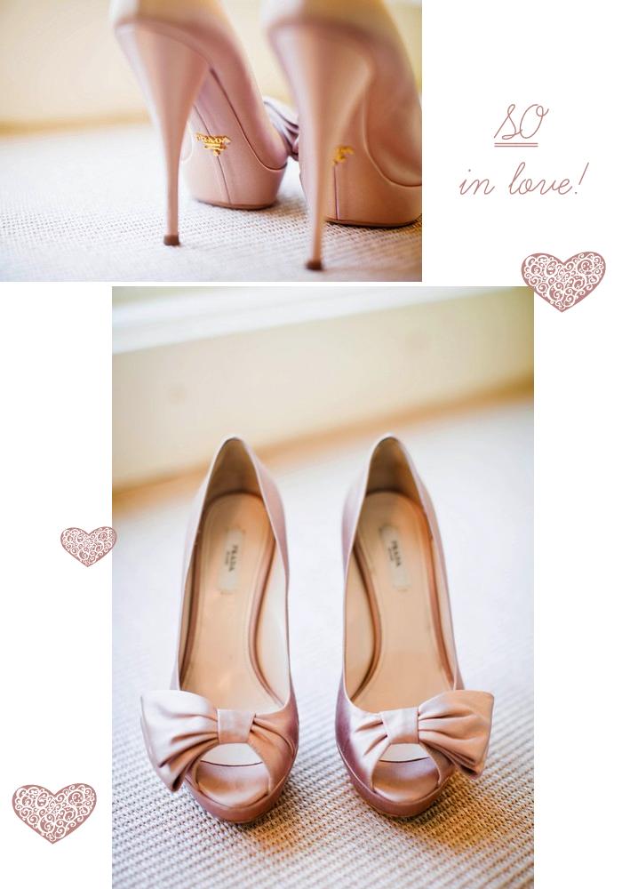 These Are My Wedding Shoes Prada Blush Satin Half Bow Detail Peep Toe Pumps Bow Heels Blush Heels Heels